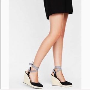 Express Lace Up Wedge Espadrilles